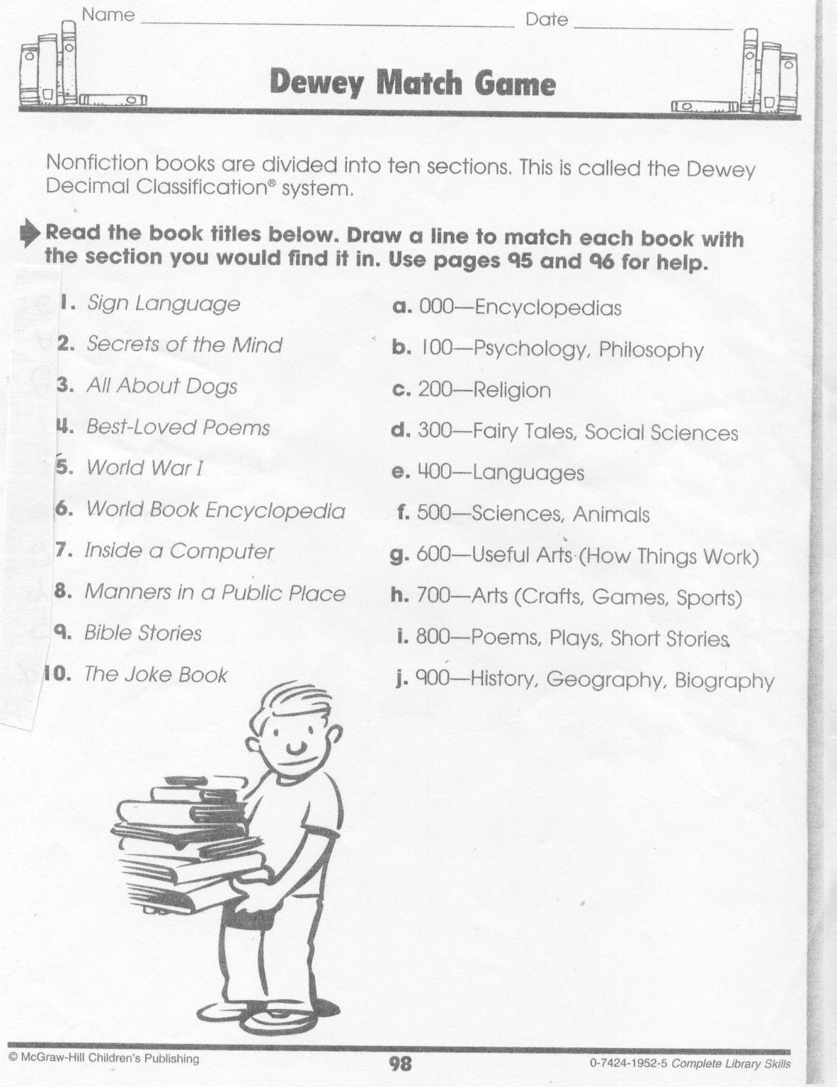 dewey decimal cheat sheet for kids - Google Search   Dewey decimal system [ 1536 x 1182 Pixel ]