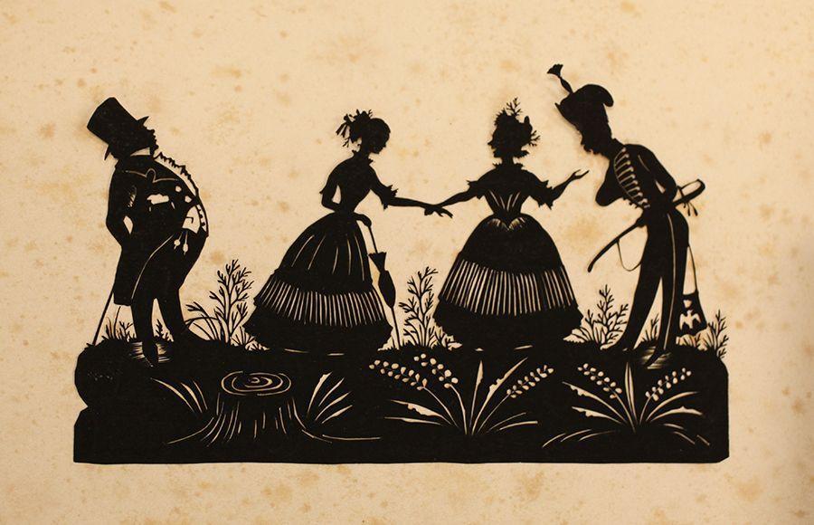 Resultado de imagen de 18th century silhouette