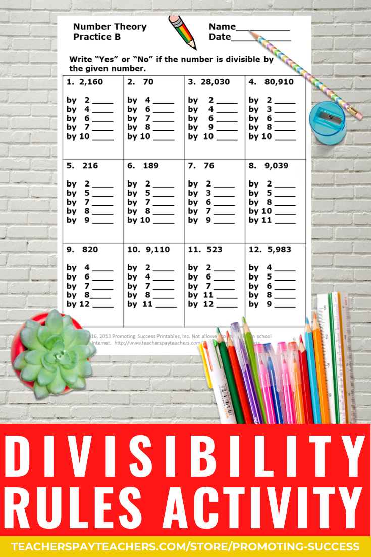 small resolution of Divisibility Rules Worksheets 4th Grade Math Review Distance Learning  Packet   Learning math