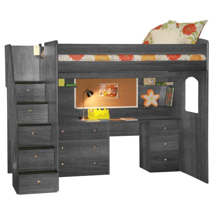 Berg Utica Loft Bed With Storage U0026 Reviews | Wayfair