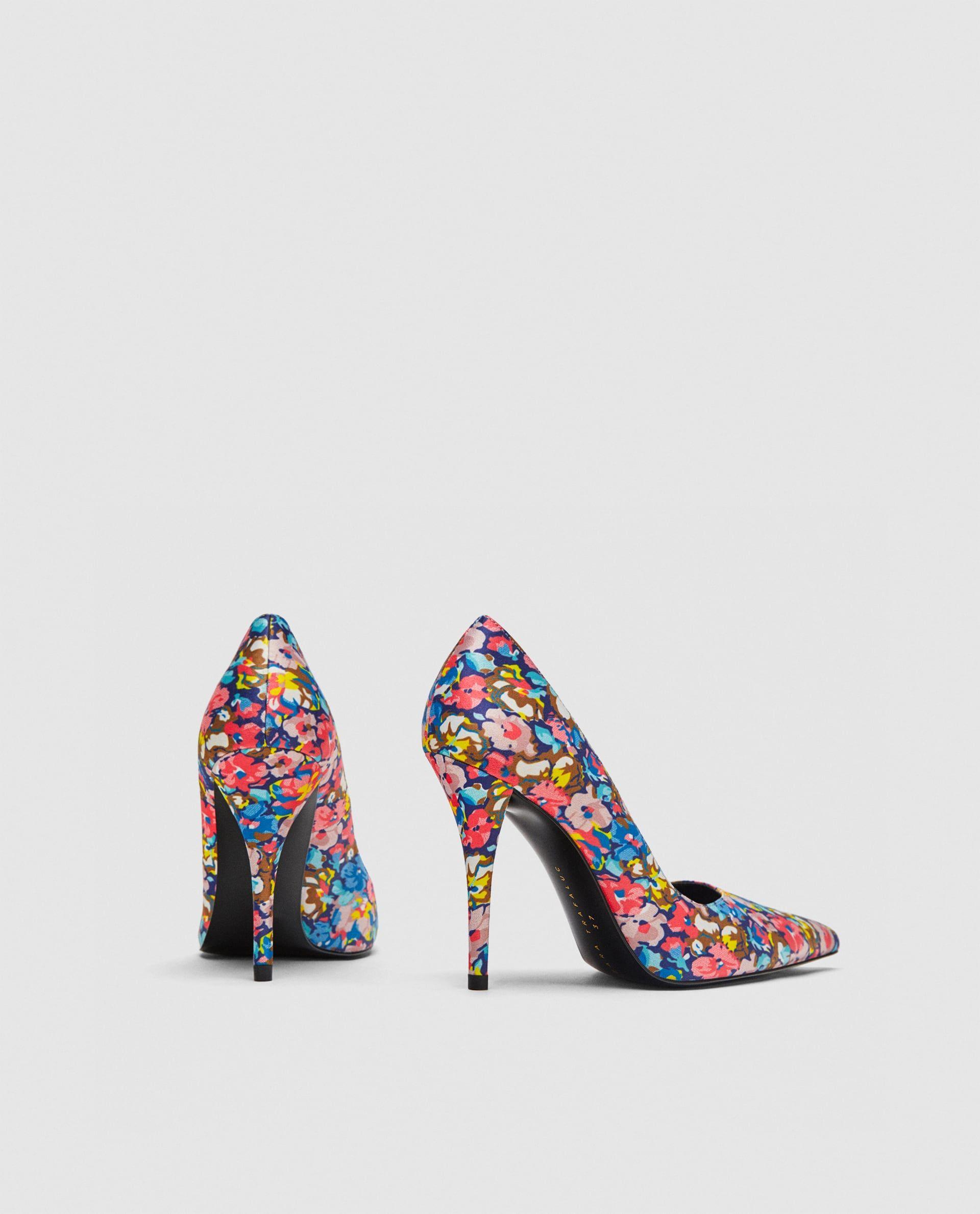 18712d9133c Zara floral printed heels