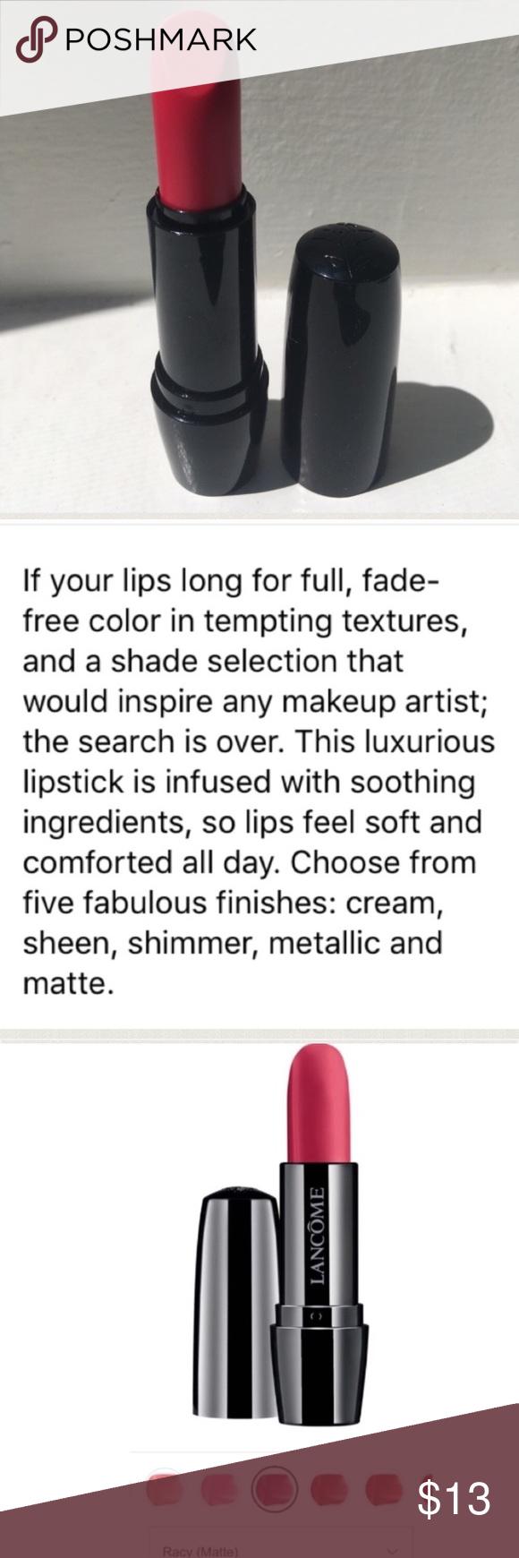 NEW💄Lancôme Lipstick in Racy(Matte) 🆕💄NEW💄Lancôme Color