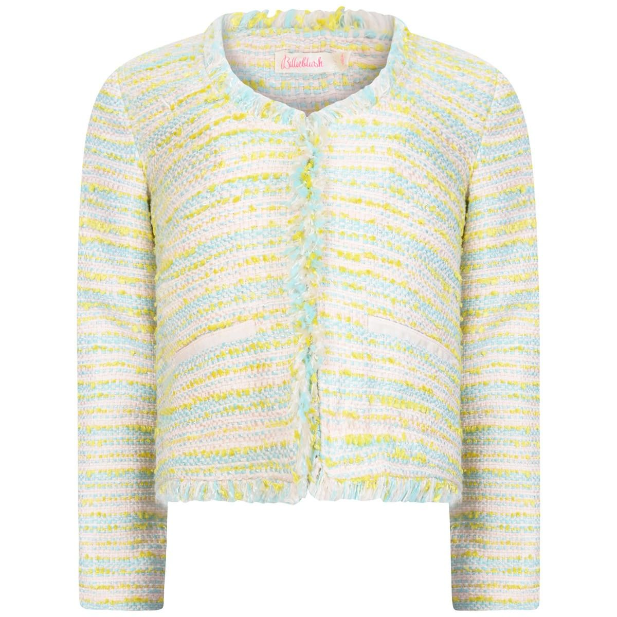 9f880f9dc2 Billieblush Girls Pink   Blue Boucle Jacket