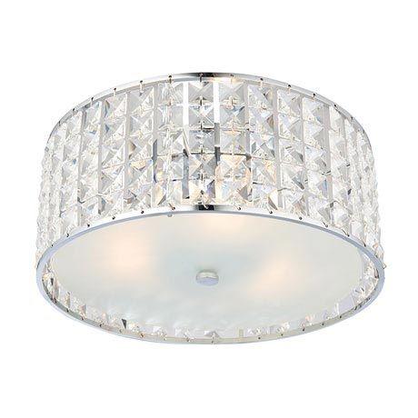 Endon Bathroom Ceiling Lights endon belfont flush bathroom ceiling light fitting | ceiling