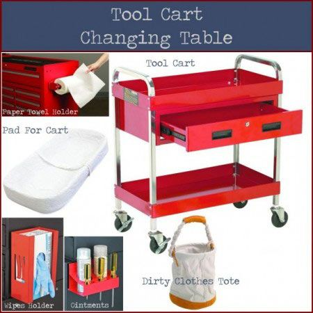 Tool Cart Changing Table | Changing table, Tool cart ...