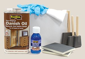 To equip you with all the accessories necessary for ongoing worktop care, our Rustins Worktops Maintenance kit includes everything you should need: a 1L can of Rustins Danish Oil, 2 de-nibbing pads, 3 foam brushes for oiling, a pair of nitrile gloves, 2 lint-free oiling cleaning cloths and 125ml of surface cleaner : http://www.worktop-express.co.uk/worktop_accessories/rustins-worktop-maintenance-kit.html