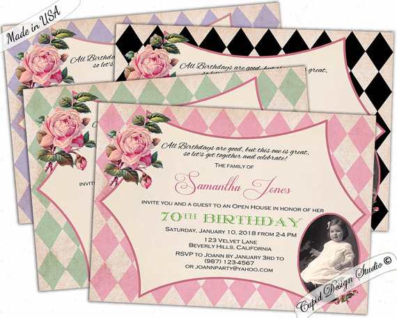 Elegant birthday invitations milestone birthday invitations adult adult birthday invitations elegant milestone by cupiddesigns filmwisefo