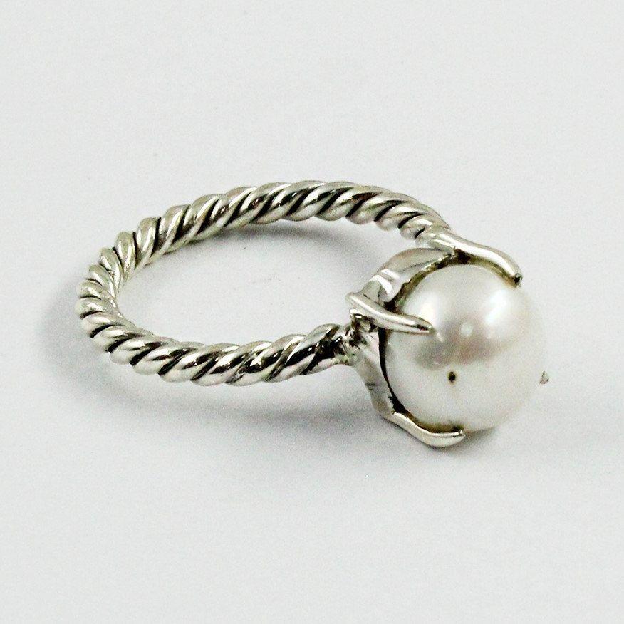 Pearl Stone Designer 925 Sterling Silver Ring For Girls & Womens ...
