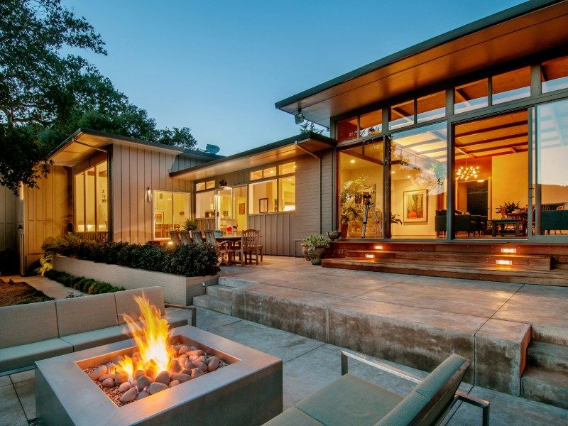 Ca Carmel Mid Century Modern Classic Modern Lake House Mid