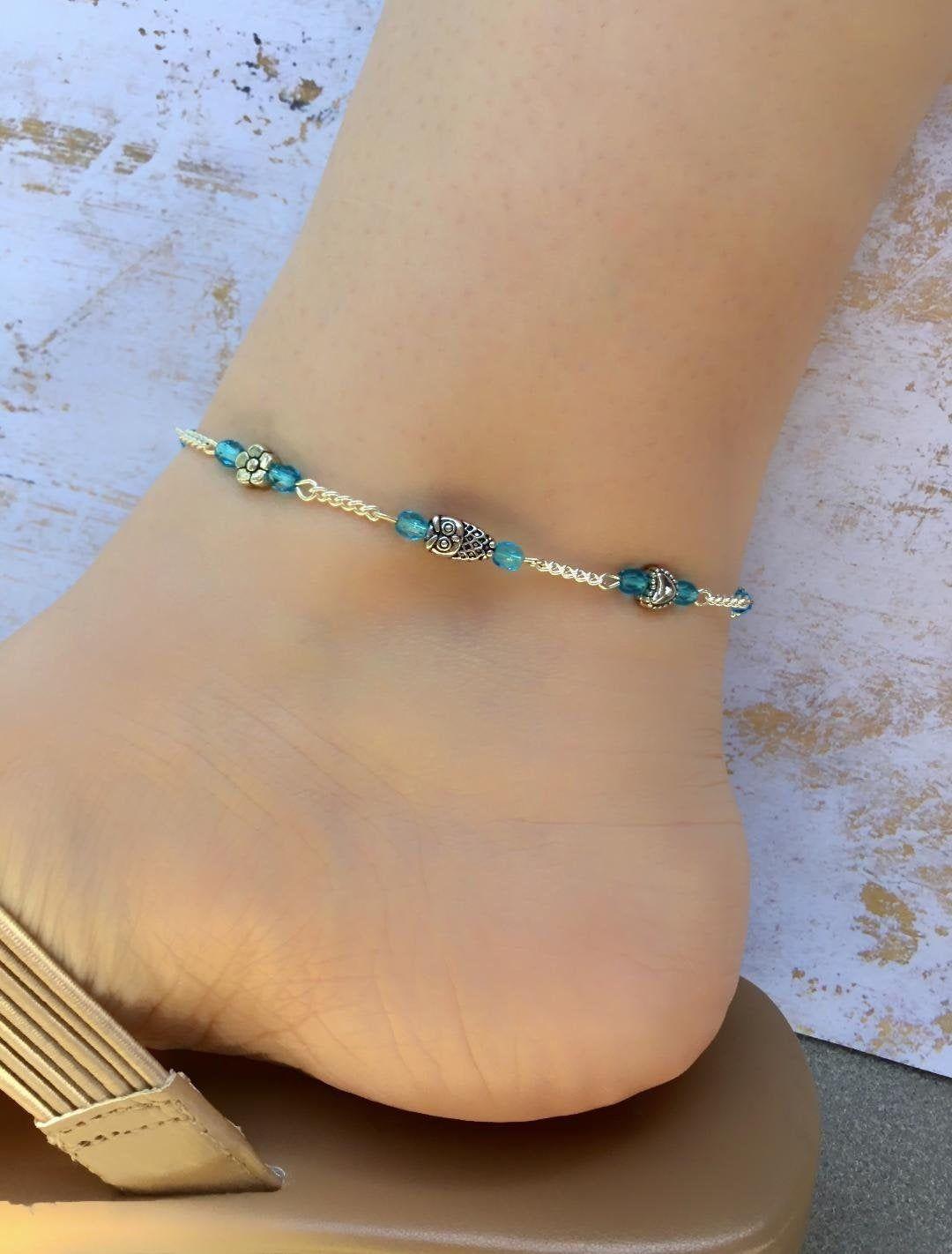 Owl Jewelry Beach Anklets