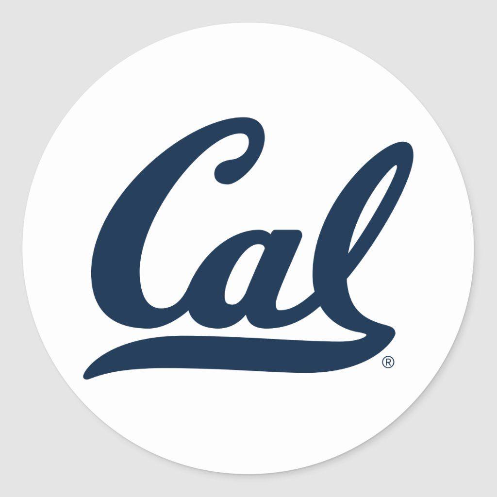 Cal Blue Script Classic Round Sticker Zazzle Com In 2021 Round Stickers Classic Cal Bears [ jpg ]