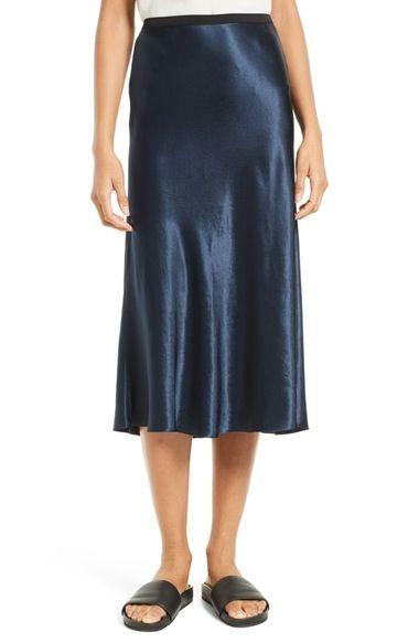 4744936d9a VINCE Satin Midi Skirt. #vince #cloth # | Vince | Satin midi skirt ...