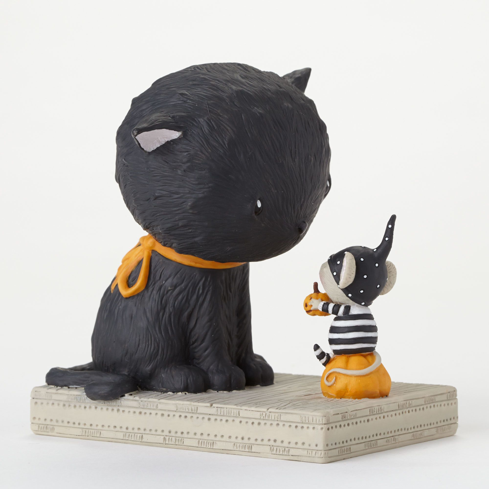 Black Cat & Mouse Halloween Figurine Cat mouse