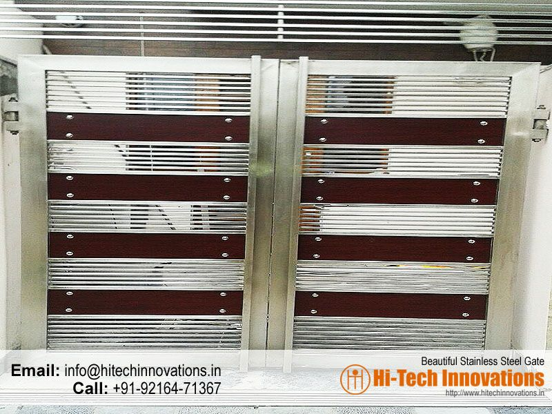 Stainless Steel Gate Ht Ssg 003 Steel Gate Design Stainless Steel Gate Front Gate Design
