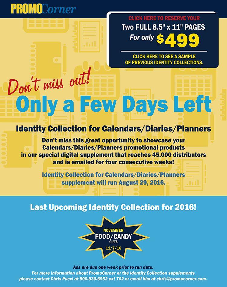 Marketing from PromoCorner - Suppliers Pinterest Calendar diary