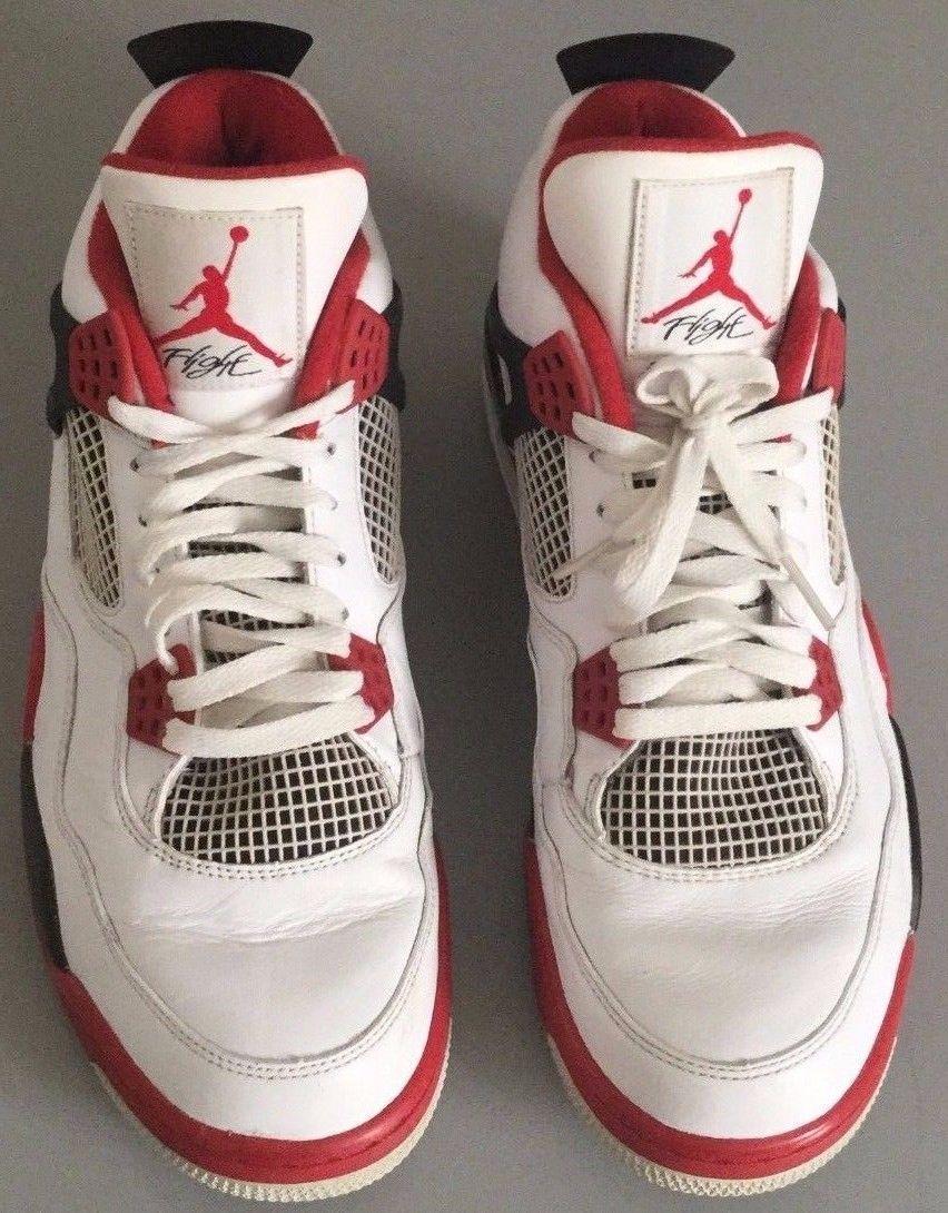 buy popular c8ca1 16db3  270 free shipping Nike Air Jordan 4 IV Retro White Varsity Red-Black  308497 110 2012 Bran size 12   eBay