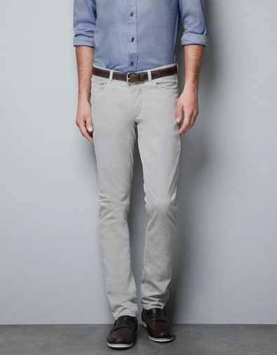 3be790fe 5 POCKET TROUSERS - Trousers - Man - ZARA Slim Fit Trousers, Trouser Jeans,
