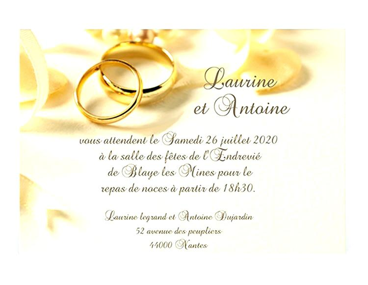 carte invitation mariage word clife