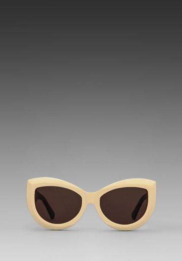 7c9a8681ec182 Wildfox Couture The Kitten Sunglasses in Cream Black Brown