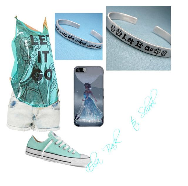 """Elsa Back to School"" by sh-armacost ❤ liked on Polyvore featuring Disney, Converse and Samsung"