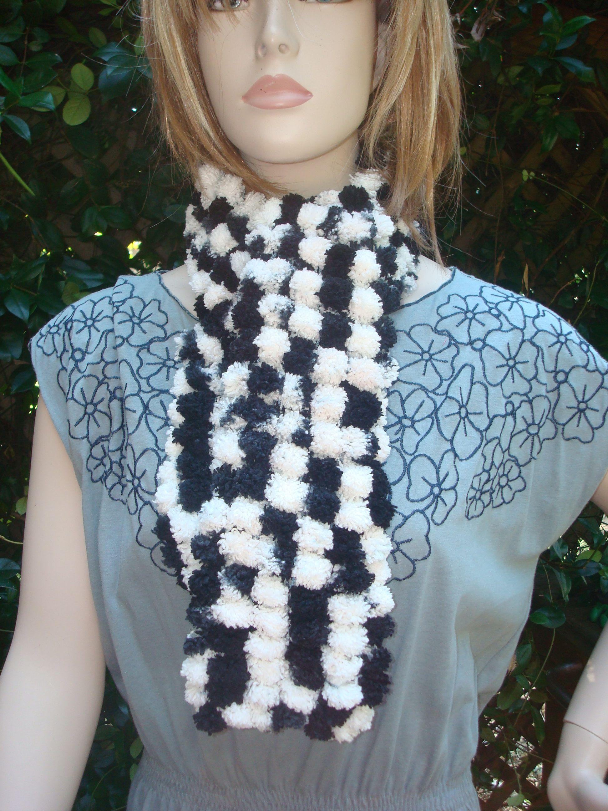 Mars Mellow Scarf Kit - Pom Pom Yarn - Crochet & Knitting Pattern ...