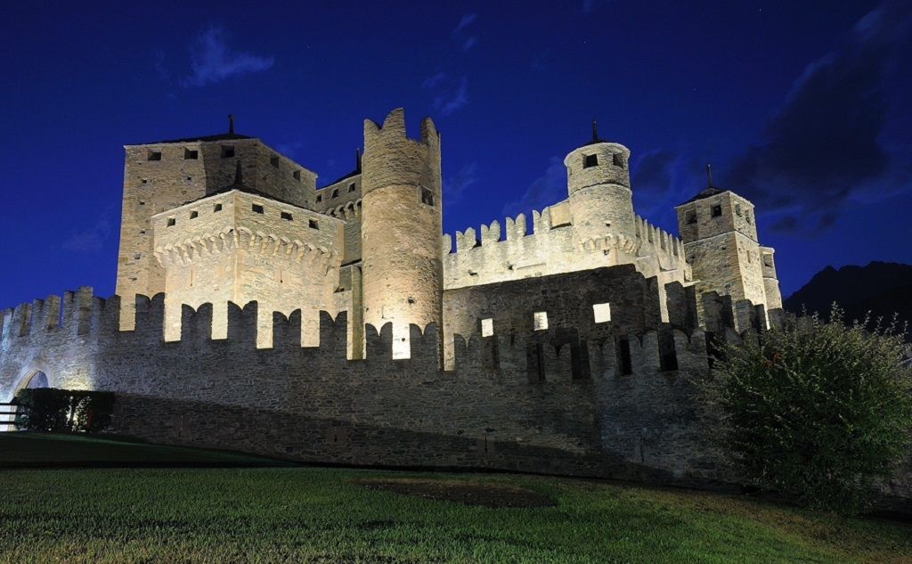 Fenis Castle Italy Castle, Aosta valley, Italy