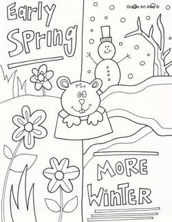 Free Printable Coloring Pages Groundhog Day Pages Ground