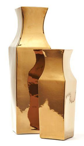 Gold Porcelain Vases Sharing Beautiful Designer Home Decor
