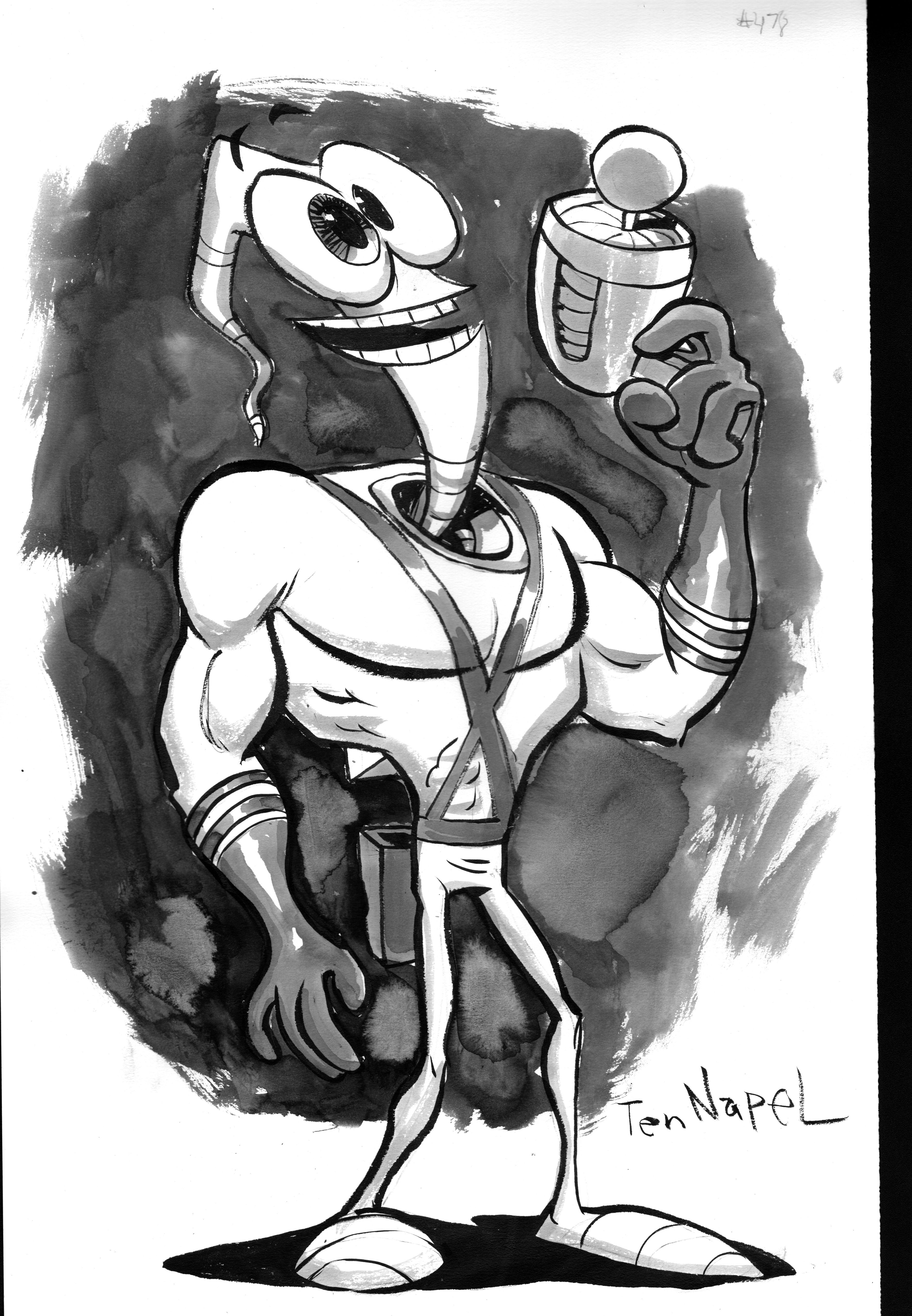Doug Tennapel Kickstarter Commission Earthworm Jim Character Design Artwork Storyboard Artist