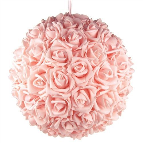 Soft Touch Flower Kissing Balls Wedding Centerpiece, 14-inch