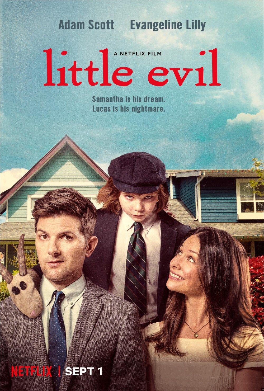 genre: comedy, horror            Little Evil seemed like the perfect parody on The Omen where our main character Gary (played by Adam Scott)...