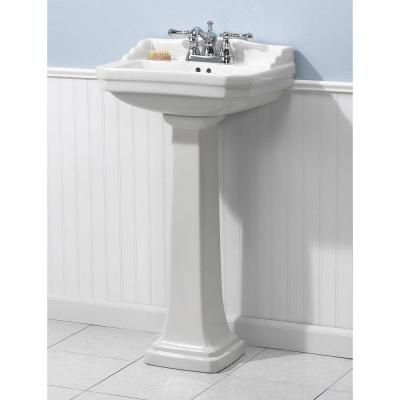 Foremost Series 1920 19 125 In L Pedestal Sink Basin In White