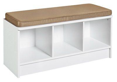 Cool Closetmaid 156900 Three Cube Bench White Finish Nb Girl Pabps2019 Chair Design Images Pabps2019Com