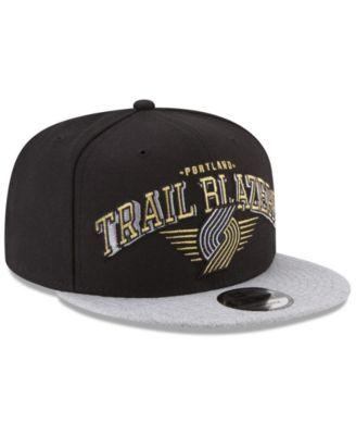 online store 837dd deb23 ... discount new era portland trail blazers gold mark 9fifty snapback cap  gray adjustable fb5ea b80e0 ...