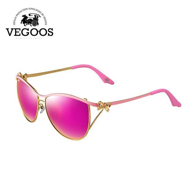 VEGOOS Luxury Brand Designer Polarized Sunglasses  women Retro Metal Frame 4fcbaa09e486