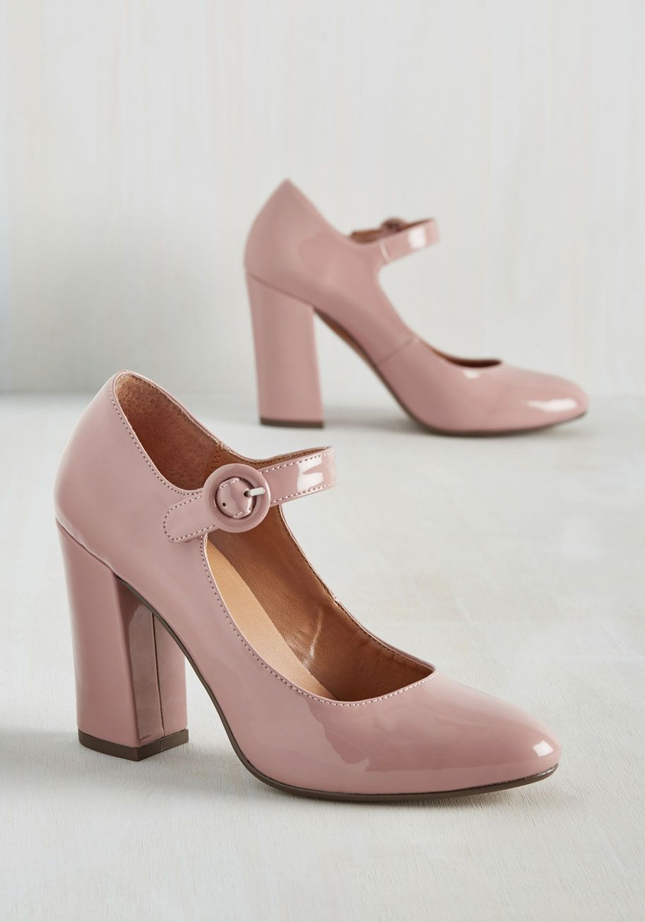 Going Through the Loco-Motions Heel in Blush, @ModCloth