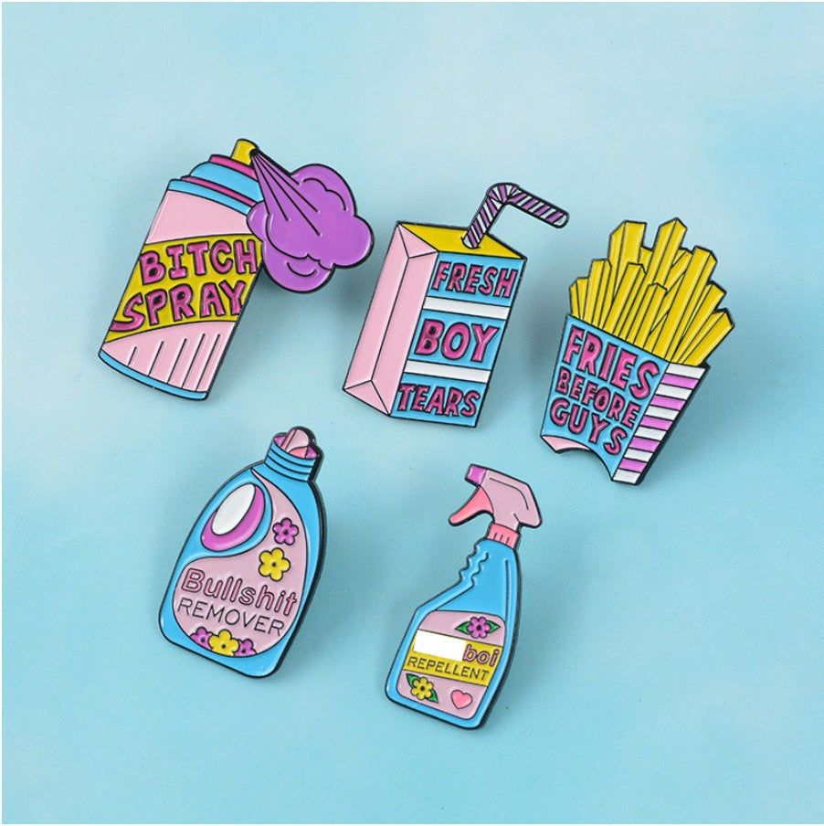 Best Funny Pins Anti-Boy Enamel Pin / Cute Enamel Pins / Lapel pin / Feminist badge / Enamel Pins /  Funny Pin / Funny Pins / Funny Badges / Punk Pins / 6