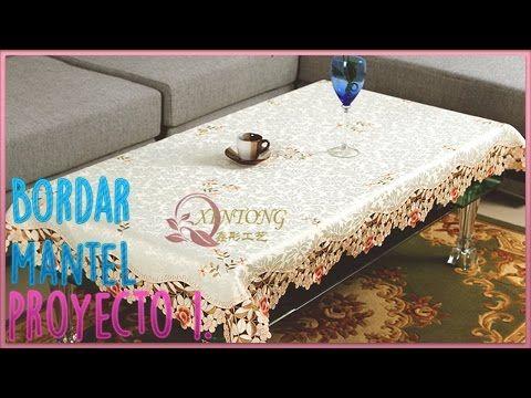 curso bordado con maquina de coser bordar y disear mantel para mesa youtube