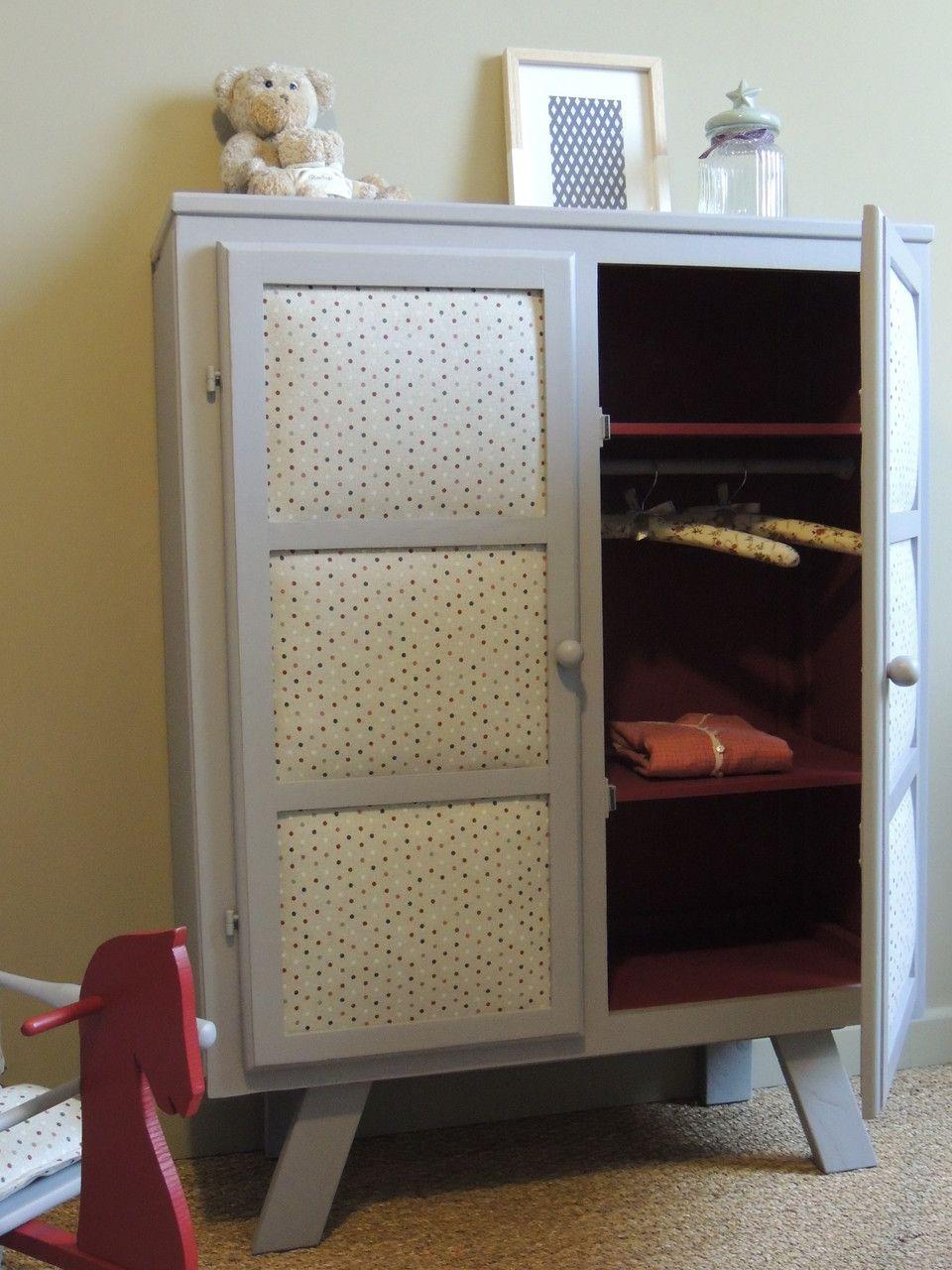 meuble r nov paulette look r tro vintage et la fois tendance pour ce petit dressing. Black Bedroom Furniture Sets. Home Design Ideas