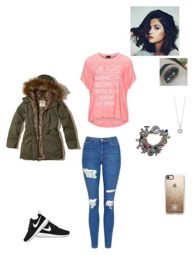 """""""🌸🌸"""" by lingering-souls-vocals1 ❤ liked on Polyvore featuring Hollister Co., NIKE, Replace, Topshop and Casetify"""