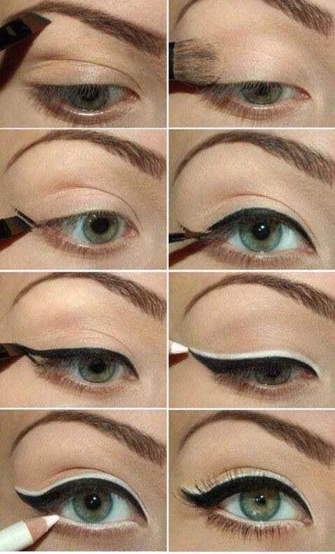 Cat eyeliner black white