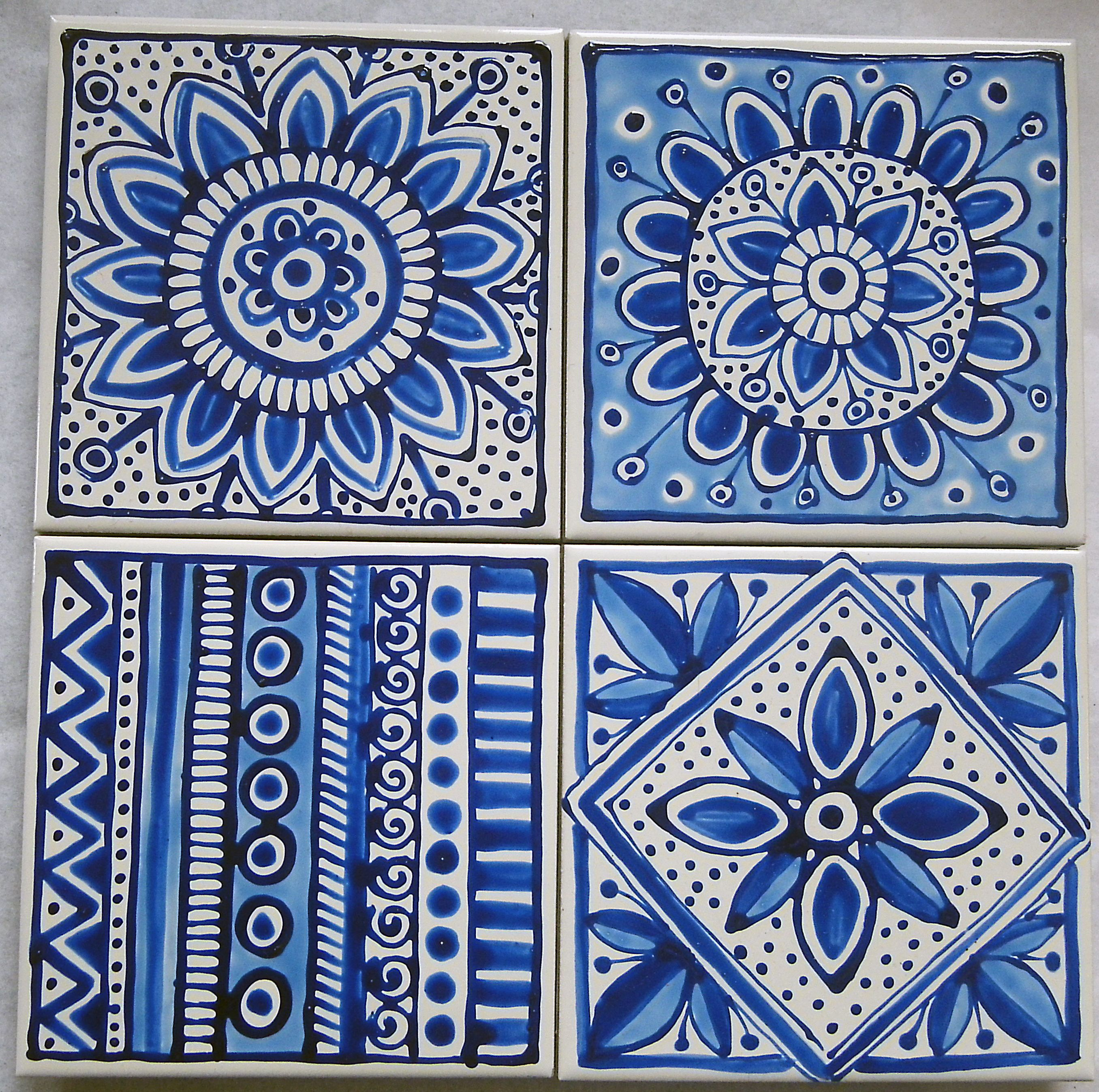 Delft inspired blue and white ceramic tile coasters www delft inspired blue and white ceramic tile coasters jocelynproustdesigns dailygadgetfo Choice Image