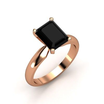 The Ara Ring #customizable #jewelry #onyx #rosegold #ring