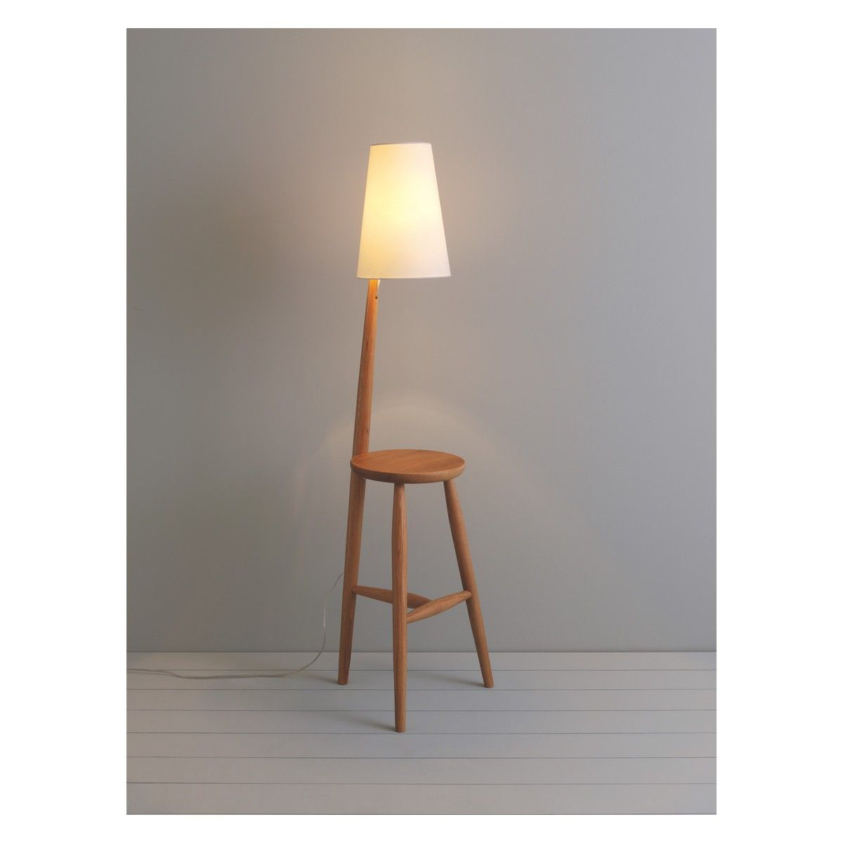 Wallace oak floor lamp and table with white shade floor lamp wallace oak floor lamp and table with white shade geotapseo Gallery