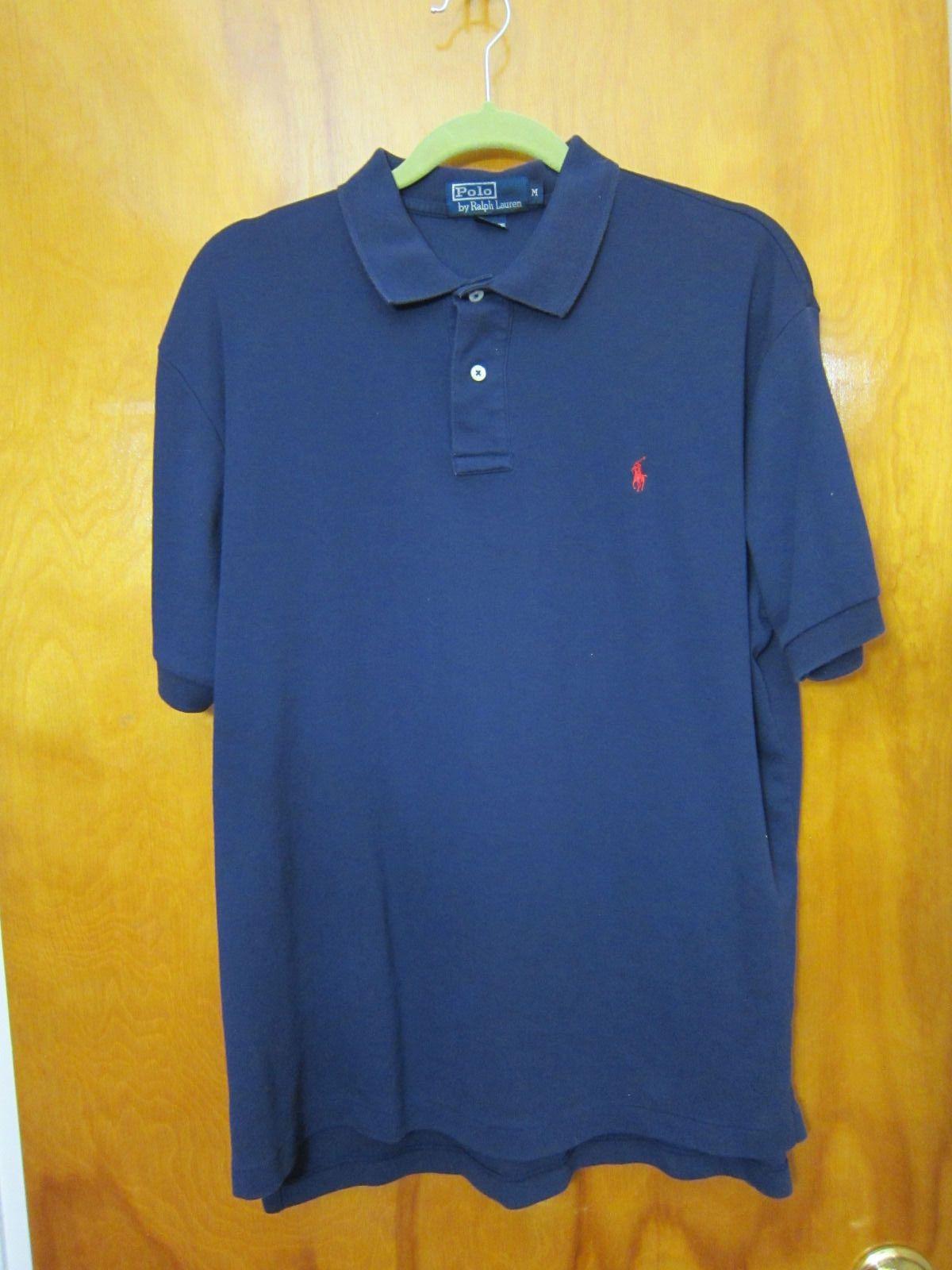 95056d4df Polo by Ralph Lauren Navy Blue Short Sleeve Polo Shirt Mens Size Medium M