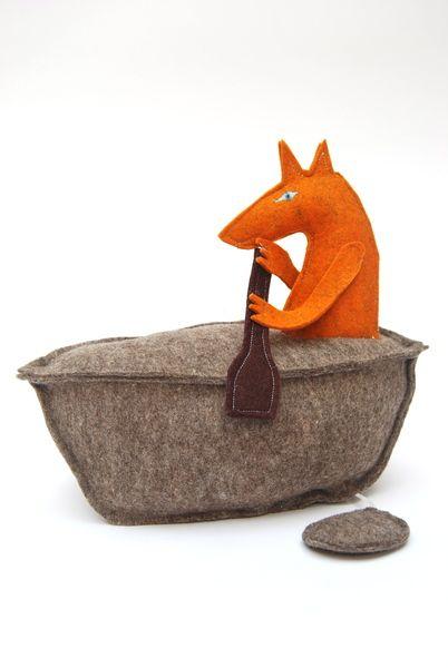 *Fuchs* im Boot *Spieluhr* / Dawanda