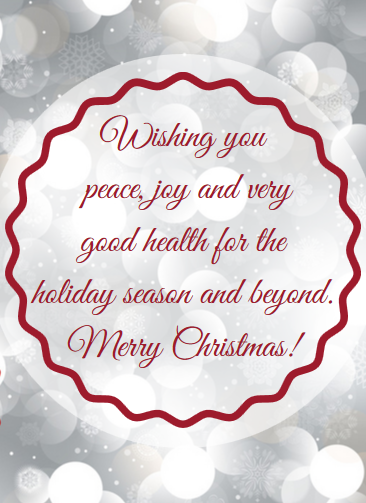 Christmas Messages From Doctors Offices Examples Christmas Card Sayings Christmas Messages Christmas Quotes