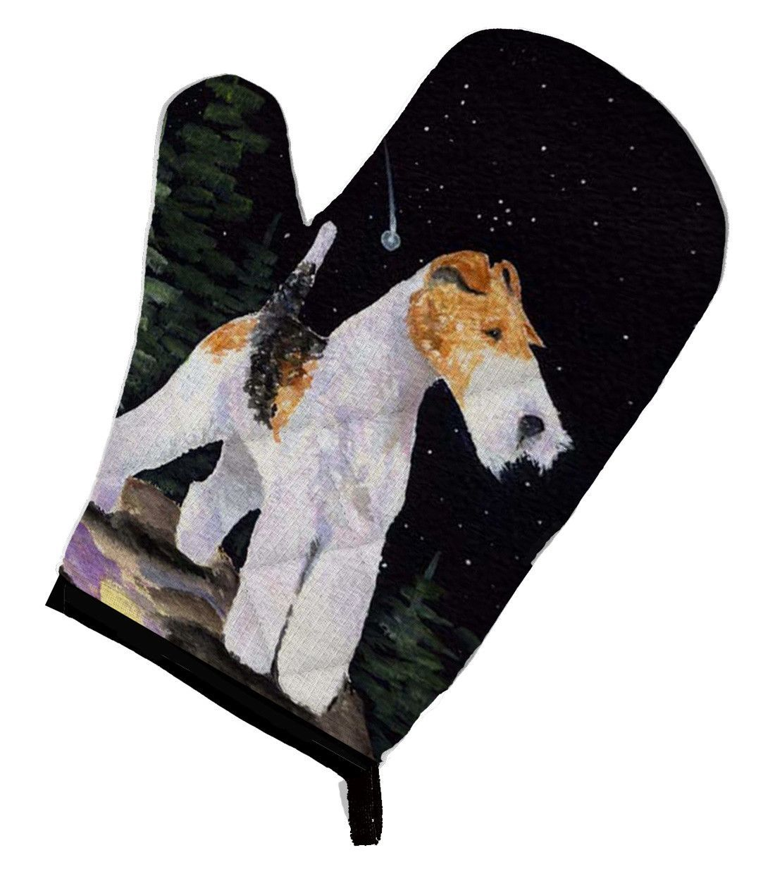 Starry Night Fox Terrier Oven Mitt