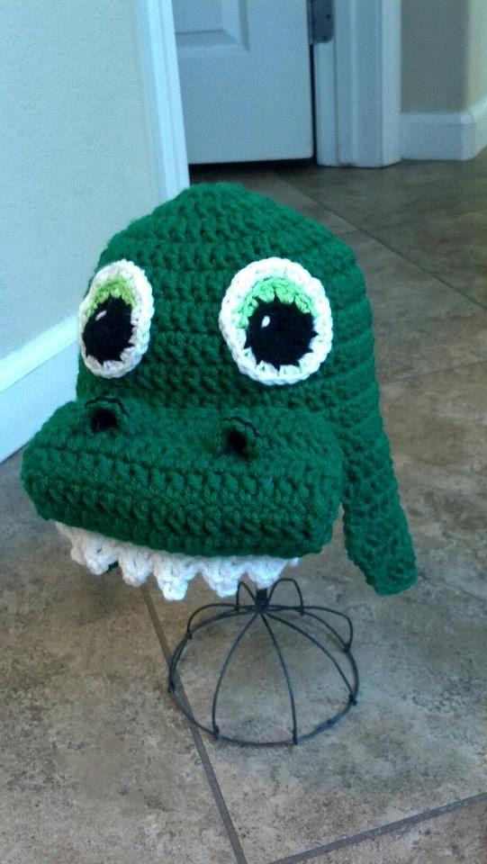 Alligator Dinosaur Beanie PDF pattern.  3.50 f37248ab22f