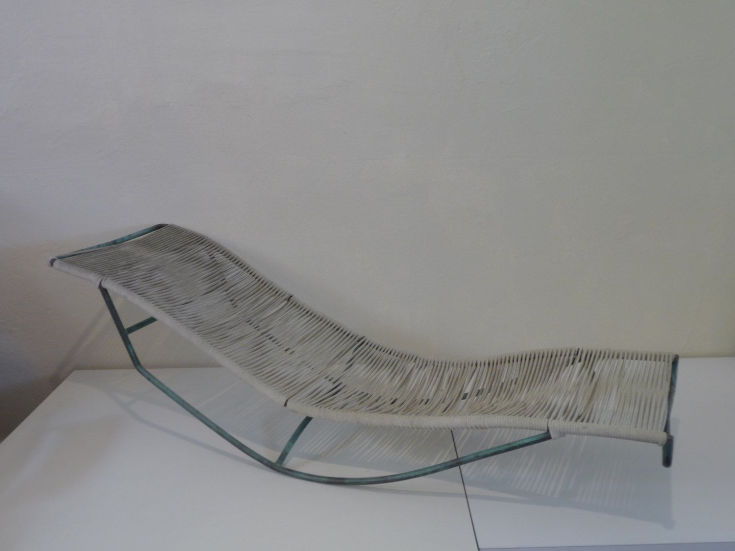 Walter Lamb Waikiki Rocking Chaise Bronze And Cord By XcapeVintage $3,000  Chair!